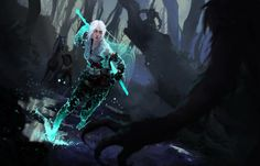 Ciri And The King Of Wolves - Witcher 3 Fan Art by Iasi, Romania based concept artist and illustrator Bogdan T.