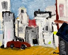 Rue du Dragon, #Paris Oil and graphite on canvas #art 13 by 16 inches © Neal Turner 2016 http://stores.ebay.com/GALLERY-ANT