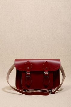 "Cambridge Satchel ""Cordovan"" Rote 11""-Satchel"