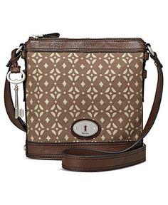 Fossil Handbag, Maddox Signature Crossbody - All Handbags - Handbags & Accessories - Macy's