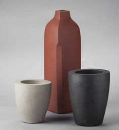 Ann Janssen; Unglazed Clay Vessels, 1990s.