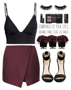 """Je Suis La Femme"" by tania-maria ❤ liked on Polyvore featuring H&M, Topshop, Rihanna For River Island, Hervé Gambs, KEEP ME, Boohoo and NARS Cosmetics"