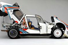 1985 Lancia Delta S4 - WRC. The Delta S4 is a Group B rally car from Italian manufacturer Lancia. The cars competed in the World Rally Championship in 1985 and 1986, until the Group B class was disbanded and the cars were eventually banned from competition by the FIA.