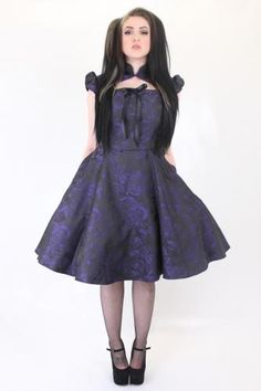 LDRVA14 - Val Rose Cap Sleeve Flared Dress | Retro/Pinup Clothing | Phaze Clothing