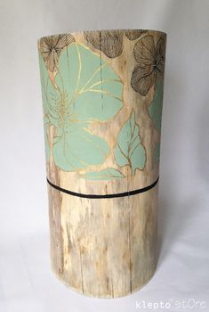 Home / klepto*stOre Rustic Furniture, Painted Furniture, Tree Stump Side Table, Log Coffee Table, Painted Driftwood, Love Decorations, Sunroom Decorating, Deco Nature, Bois Diy