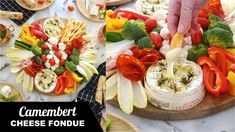 This year, I was inspired to re-vamp and make my cheese fondue a little lighter and easier to prepare. Hence this delicious Camembert cheese fondue, baked in. Dinner Party Menu, Dinner Party Recipes, Appetizers For Party, Cocktail Recipes, Tofu, Fondue, Retro Recipes, Camembert Cheese, Easy