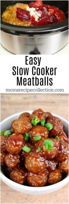 Easy Slow Cooker Meatballs | Moms Recipe Collection