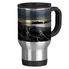 Sunset at Ruby Beach Olympic National Park Travel Mug