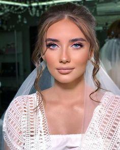 45 Wedding Make Up Ideas For Stylish Brides ❤ wedding makeup blue eyes pink eyeshadows long lashes kateryna_keleberda #weddingforward #wedding #bride #weddingmakeup #weddingbeauty