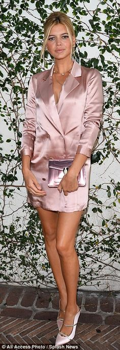 Copy Kelly with a pink Bulgari bag #DailyMail