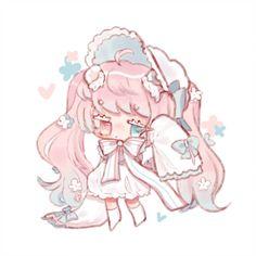 Chibi request for ! Cute Anime Chibi, Kawaii Chibi, Chica Anime Manga, Kawaii Art, Kawaii Anime, Cute Animal Drawings Kawaii, Kawaii Drawings, Cute Drawings, Art Anime