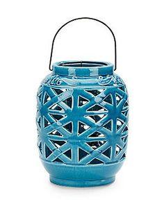 Geometric Ceramic Lantern - SaksOff5th