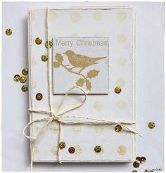 misha_cards / *Bodkované Vianoce - vtáčik*