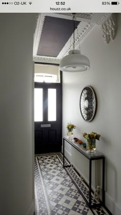 Fabulous Hallway Decor Ideas For hallway ideas ideas small ideas entrance hallway ideas hallway decorating halls Hall Tiles, Tiled Hallway, Hallway Flooring, White Hallway, Hallway Shelf, Upstairs Hallway, Flur Design, Hallway Inspiration, Small Hallways