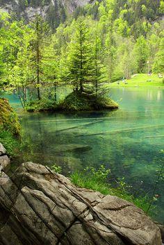 Blausee (Blue Lake) - Bernese Oberland, Switzerland.