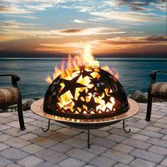 Starry night fire dome #romantic