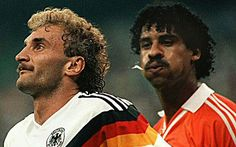 West Germany 2 Holland 1 in 1990 in Milan. Frank Rijkaard then spits at Rudi Voller and more troubles ensue in Round 2 #WorldCupFinals