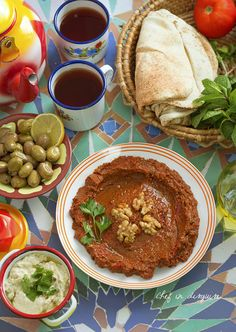 Muhammara (red pepper and walnut Syrian dip)..amazing with grilled meat, Kibbeh or with hummus