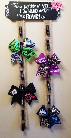 Cheer Bow Holder Cheer Bow display Home for your by Bellabows76