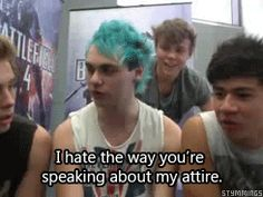[gif] from the 5sos twitcam the other day.. Ashton being adorable as always.