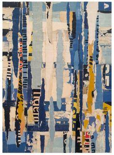 """Parts of Speech 2,"" collage by Lisa Hochstein, made of salvaged paper"