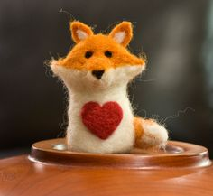 Needle Felted Fox by scratchcraft on Etsy