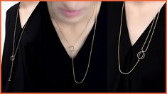 The Hollow Orb Layered Necklace is a versatile necklace that can be worn three different ways! Layered Necklace, Fashion Necklace, Layers, Chain, Gold, How To Wear, Jewelry, Layering, Jewlery