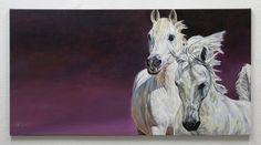 Лошадь искусство | Pferde gemalt: Картина маслом
