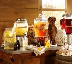 a Thanksgiving beverage station
