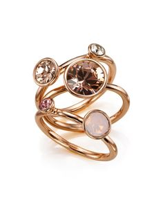 Jewel clustered ring - Rose Gold   Jewelry   Ted Baker
