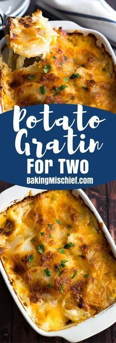 Creamy cheesy Potato Gratin for Two is simple to make and a perfect delicious meal for two. Creamy cheesy Potato Gratin for Two is simple to make and a perfect delicious meal for two. Dinner For One, Nice Dinner, Easy Meals For Two, Small Meals, Easy Recipes For Two, Nice Meals, Sweet Recipes, Cooking For A Crowd, Cooking On A Budget