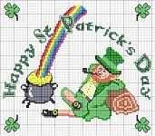 St. Patrick's Day cross stitch pattern