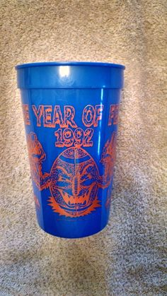 10daed7a4ca 1992 New Orleans Night blue soft drink cup - back side