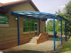 Park Street Furnishing provide their customers with bespoke entrance canopies so you can create a welcoming covered entrance area. Gazebo, Pergola, Best Commercials, Canopies, Entrance, Outdoor Structures, Kiosk, Entryway, Pavilion