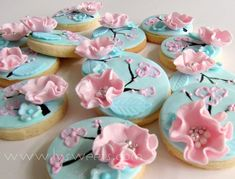 Mint Cherry Blossom Cookie
