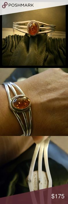 L yazzie sterling amber cuff Designer l. Yazzie amber stone cuff bracelet. Yazzie sreling are known for there designs from different stones, and some are absolutely beautiful. Plz check there Web site. Thank you l. yazzie Jewelry Bracelets