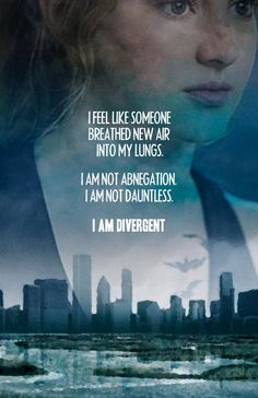 #rothzroom  Tris realized that she didn't want to just have one trait rather all of them.. This accepting the fact that she was divergent