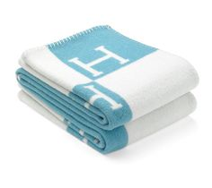 """Avalon  Baby blanket in wool and cashmere (40"""" x 56"""")  Ref. 100775M12  $760.00"""