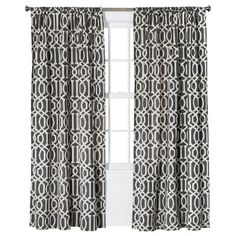 "Threshold™ Farrah Lattice Curtain Panel - Blue (54x84"")"
