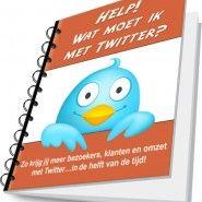 Nog nooit getwitterd, maar je wilt wel aan de slag? Je hebt al wel een twitteraccount, maar je doet er niets mee? Dan kan ik je 'Help! Wat moet ik met Twitter?' van harte aanbevelen. Ook de doorgewinterde twitteraar heeft er wat aan.