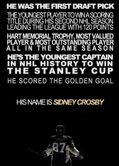 He is hockey's Michael Jordan, and the next statue outside CONSOL Center. And not even 26.