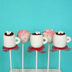The Hot Chocolate Cake Pops are an Adorable Festive Treat #food trendhunter.com
