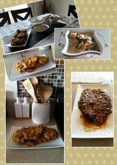 Lunch/ totsong bangus, paksiw na salmon, monggo, breaded pork chop