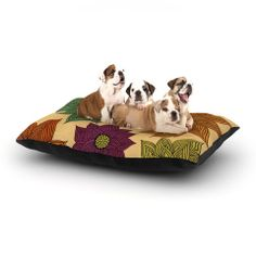"""Pom Graphic Design """"Color Me Floral"""" Dog Bed 