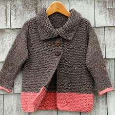 Soft simplicity - the Sawtelle cardigan for girls 2-12 is made entirely of knit stitches and the only seaming is at the shoulders.