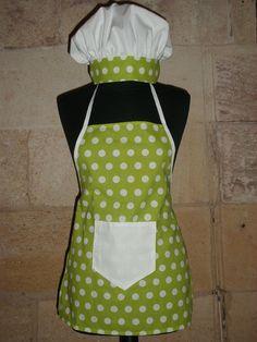 Tablier et toque de cuisinier enfant mes cr a 39 couture for Tablier de cuisine patron gratuit