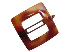 Charles J Wahba Large Square Cutout Delrin Barrette  Tortoise -- Continue to the product at the image link.(This is an Amazon affiliate link and I receive a commission for the sales)