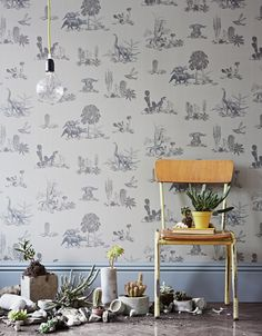 Sian Zeng Woodland Magnetic Wallpaper And Magnets Www Smallable Com   C B Papier Peint Rosepapier Peint Chambre Enfantfresque