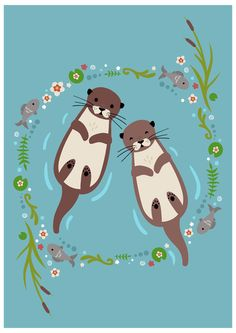 My Significant Otter Art Print