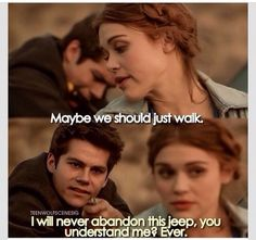 Teen wolf ~ Stiles and his jeep are forever ~ It's either the jeep or the bat. Oh Stiles Teen Wolf 4, Teen Wolf Quotes, Teen Wolf Funny, Teen Wolf Memes, Teen Wolf Dylan, Teen Wolf Stiles, Teen Wolf Cast, Tv Quotes, Stiles Jeep